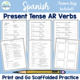 Spanish Present Tense -AR Verbs conjugation practice