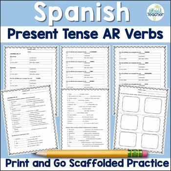 Spanish Present Tense -AR Verbs conjugation practice