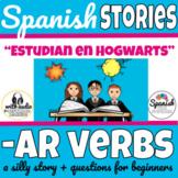 Spanish AR verbs story with audio