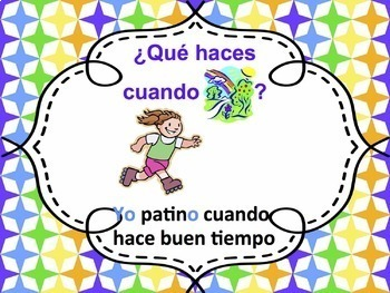 Spanish -AR verbs with Weather Powerpoint