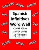 Spanish Verb Word Wall Signs - 72 AR/ER/IR Infinitive Verbs