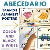Spanish Abecedario Posters - Alfabeto in Color and Black a