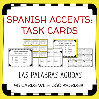 Spanish Accent Marks Teaching Resources Teachers Pay Teachers
