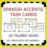 Spanish Accent Mark Task Cards - Las Palabras Agudas