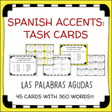 Spanish Accent Mark Task Cards: Las Palabras Agudas