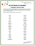 Spanish Accent Marks Listening & Pronunciation Task