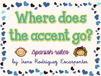 Accents rules in Spanish  |Spanish Accents Rules