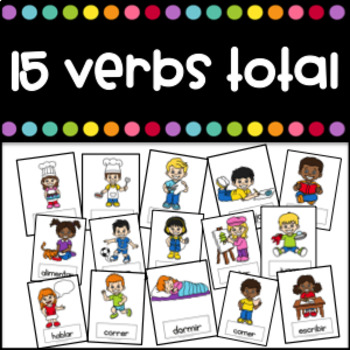 Verbos Flashcards (Action Verbs in Spanish)