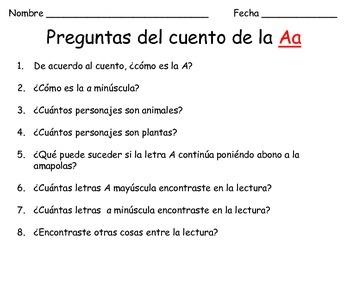 Spanish Actividades de la letra Aa/Letter Aa Activities