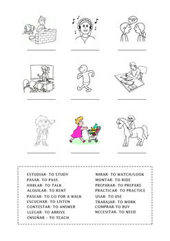 Spanish Activities -AR Verbs (Present Tense)