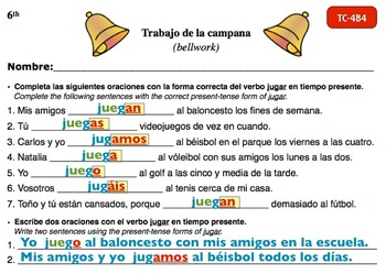 Spanish Activities - Bellwork TC64B Keynote