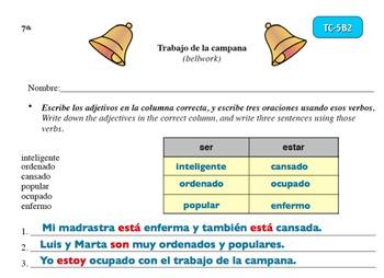 Spanish Activities Bellwork TC75B6A PowerPoint