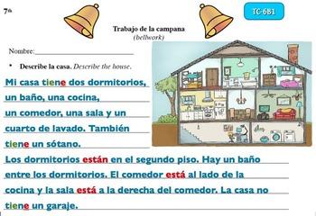 Spanish Activities Bellwork TC76B PowerPoint