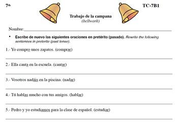 Spanish Activities - Bellwork TC77B PDF