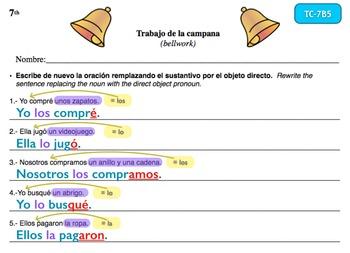 Spanish Activities - Bellwork TC77B Keynote