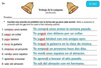 Spanish Activities - Bellwork TC78A Keynote