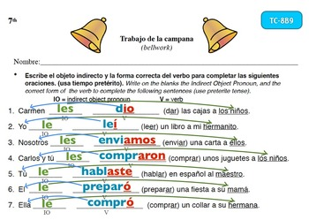 Spanish Activities - Bellwork TC78B Keynote