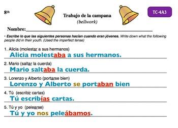 Spanish Activities - Bellwork TC84A Keynote