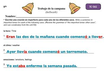 Spanish Activities - Bellwork TC85A Powerpoint