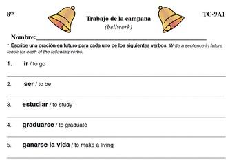 Spanish Activities - Bellwork TC89A PDF