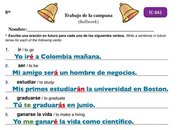 Spanish Activities - Bellwork TC89A Powerpoint