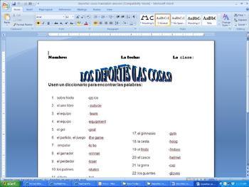 Spanish Activities Volume I (G-Z)