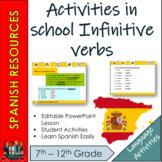 Spanish -  Activities in School infinitive Verbs