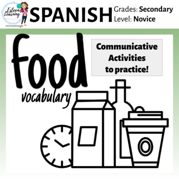 Spanish Activities to Practice with Food