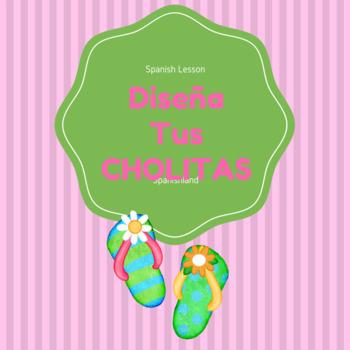 Spanish Activity | Design Your Own Flip Flops | Colors