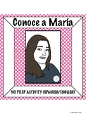 Spanish Activity: María