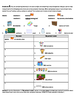 Spanish Activity: Quantity and Numbers practice (los númer