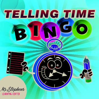 Spanish Activity - Telling Time Bingo