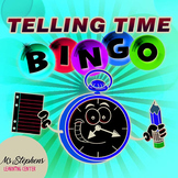 Spanish Activity - Telling Time Bingo