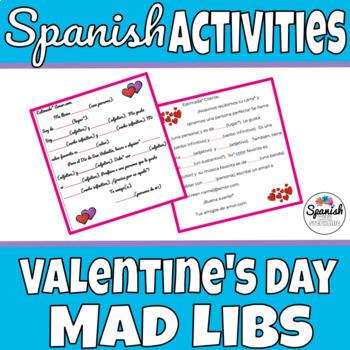 Spanish Activity: Valentine's Day Mad-libs