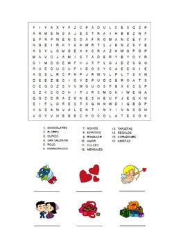 Spanish Activity- Valentine's Day crossword