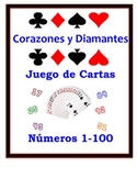 Spanish Numbers 1-100 Speaking Activity: Playing Cards, Groups
