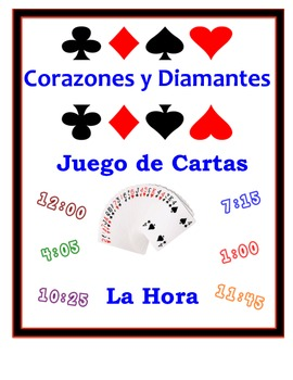 Spanish Time Speaking Activity: Playing Cards, Groups