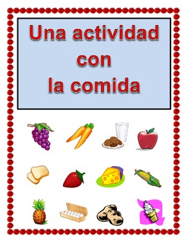 Spanish Activity with Food Vocabulary