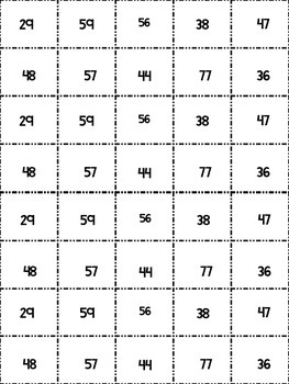 Spanish Adding 2 Digit Numbers (without regrouping) Solve and Snip