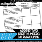 Spanish Adding 2 Digit Numbers (without regrouping) Solve