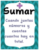 Spanish Addition Posters