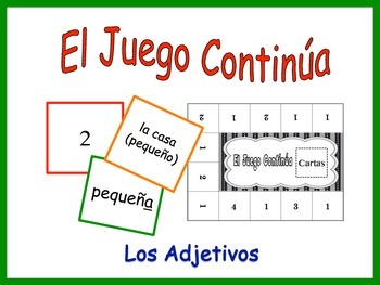 Spanish Adjective Activity for Groups