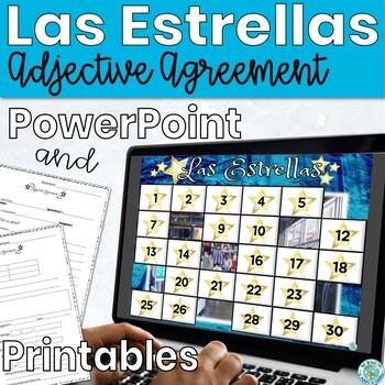 Spanish Adjectives Game Clothes Las Estrellas