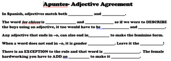 Spanish Adjective Agreement-Descubre 1 Lesson 3