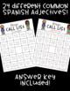 Spanish Adjective BINGO! ♦ 32 different cards! ♦