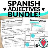 Spanish Adjective Activities - Word Search, Crossword, Bingo, Speaking Activity