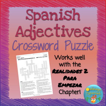 Realidades 2 Crossword Worksheets Teaching Resources TpT