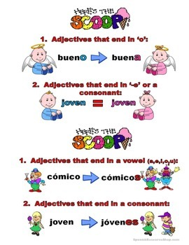 Spanish Adjective Grammar Notes