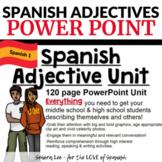 Spanish Adjective Unit - POWERPOINT Los Adjetivos Descriptivos