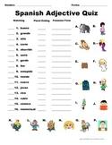 Spanish Adjective Quiz